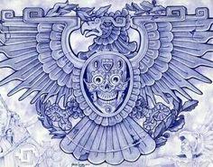 Blue Eagle by Mouse Lopez Aztec Bird Symbol Giclee Art Print - Eagle Art - Ideas of Eagle Art - Blue Eagle by Mouse Lopez Aztec Bird Symbol Giclee Art Print Price : Mayan Tattoos, Tribal Tattoos, Aztec Eagle Tattoo, Filipino Tattoos, Indian Tattoos, Stretched Canvas Prints, Canvas Art Prints, Inka Tattoo, Aztec Drawing