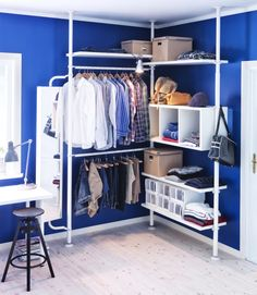 Ikea STOLMEN - perfect for the awkward tiny closet in C's room
