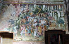 Cenni di francesco, cappella della croce di giorno, 1410, cosroè ruba la croce, 01.JPG