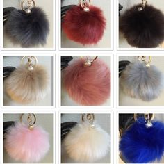 """Fur Ball Keychain (Faux Rabbit Fur) Brand new beautiful faux rabbit fur keychain with pearl charm. 9 colors to choose from! Gorgeous on purse or keychain ! Approx: 3 1/2"""" diameter Please don't purchase from this listing  let me know color number you like and I'll create a new listing for you. Price is firm unless you bundle  Accessories Key & Card Holders"""
