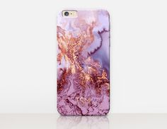 Rose Gold Monogram Marble Phone Case  iPhone 6 Case  by CRCases