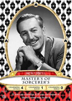 Walt Disney Master Sorcerer this Custom Sorcerer of the Magic Kingdom Card from the Walt Disney World Game by Luis Ortiz