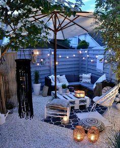 Backyard Patio Designs, Small Backyard Landscaping, Pergola Patio, Small Patio, Backyard Ideas, Landscaping Ideas, Pergola Kits, Pergola Ideas, Balcony Ideas