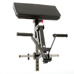 Bizep-Curl-Option für Multibänke mit Front-Tube-Adaptor   Zum Anbau an den Front-Tube-Adaptor diverser Multibänke von Barbarian-Line und MegaTec Bestens geeignet für das isolierte Training der Bizeps-Muskulatur Doppelgelenkiger Hebelarm für einen optimalen Bewegungablauf, komplett kugelgelagert Megagrip-Drehgriffe aus speziellem Kunststoff für optimalen Grip Curlpult 4-fach in der Neigung verstellbar, mit komfortablen 53 cm Breit...