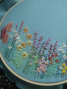 Spring Flower Fields Embroidery Hoop