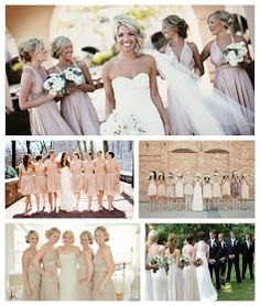Eat, Drink and Be Married: Neutral Bridesmaid Dresses