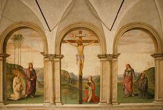 The Crucifixion painted by Pietro Perugino (1493-1496), Church of Santa Maria Maddalena dei Pazzi, Florence