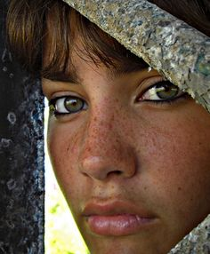 Freckled woman eyes of the world  (people, portrait, beautiful, photo, picture, amazing, photography)