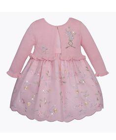 Pink Sequin Flower Dress & Shrug - Infant & Toddler by American Princess #zulilyfinds