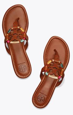 Tory Burch Miller Embroidered Sandal