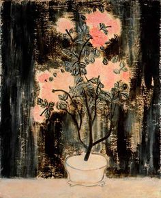 Potted Pink Chrysanthemums, 1940s, oil on canvas, 100x81.4cm