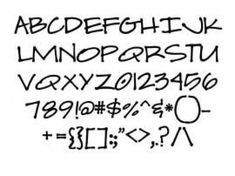30 Free Printable Font Sheets for Your Arts Crafts Stencil   and Decoupage Projects #diycuttingboard