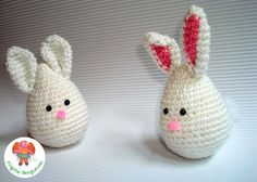 Conejo de Pascua en ganchillo - Migote Amigurumi Crochet Stitches, Crochet Patterns, Easter Crochet, Bunny, Symbols, Christmas Ornaments, Holiday Decor, Crafts, Diy