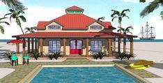 Cottage Florida Southern House Plan 72368 Elevation
