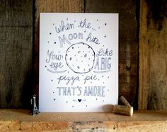 Pinsday Inspiration: When The Moon Hits Your Eye » ellolovey via Etsy