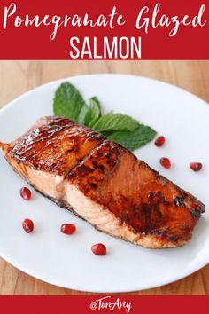 Pomegranate Glazed Salmon - Sweet-Tart Caramelized Fish Recipe