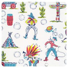 cowboys and indians fabric design - Google Search