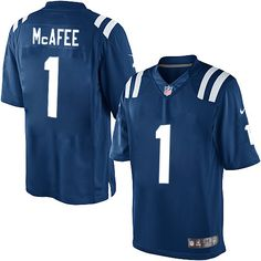 dd8d16eac Men s Nike Indianapolis Colts  1 Pat McAfee Limited Royal Blue Team Color  NFL Jersey
