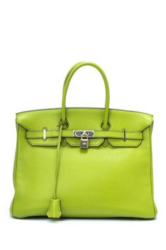 Vintage Hermes Leather Birkin 35 (Stamp: Square L) Handbag by LXR on @HauteLook