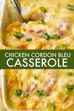 The Rise Of Private Label Brands In The Retail Meals Current Market Chicken Cordon Bleu Casserole - Filling And Comforting Without All The Fuss Of Traditional Chicken Cordon Bleu. Healthy Chicken Recipes, Seafood Recipes, Dinner Recipes, Cooking Recipes, Cooking Ideas, Casserole Dishes, Casserole Recipes, Chicken Cordon Bleu Casserole, Hamburger Casserole