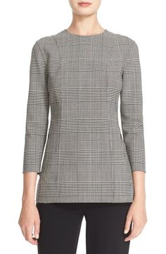 Theory 'Lauret - Portland' Plaid Stretch Wool Top available at #Nordstrom