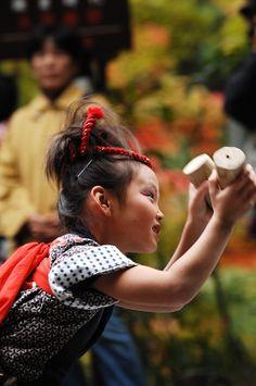 Japanese girl dressed for Matsuri event