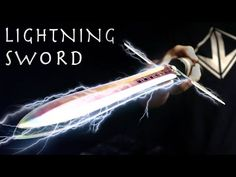 How To Make a LIGHTNING SWORD! - Electric Taser Sword, Simple Design (⚡SHOCKING Results⚡) - YouTube Up Costumes, Cosplay Costumes, Costume Ideas, Demon Book, Cosplay Diy, Craft Tutorials, Diy Projects, Knives And Swords, Make Design