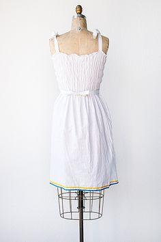 vintage 1970s embroidered boho sundress
