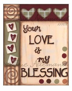 LOVE is my BLESSING Original 8 x 10 Print comes matted to 11 x 14 by SueAllemandArt, $18.00