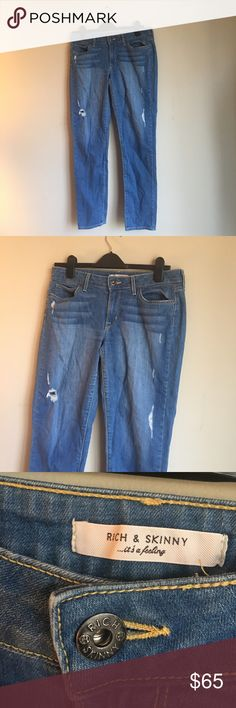 "Rich & Skinny ""WinterLake"" Jean Worn once. Perfect condition. Pet and smoke-free home. Flattering boyfriend style. Rich & Skinny Jeans Boyfriend"