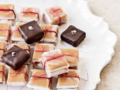 Chocolate-Dipped Vanilla Caramels
