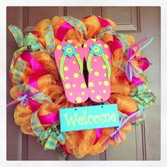 Flip flop wreath! I wanna make this too