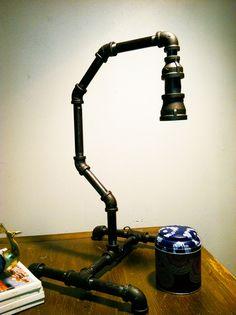 Industrial pipe lamp. $165.00, via Etsy.