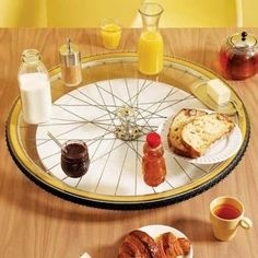 DIY Bike Wheel Lazy Susan