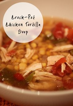 Chicken Tortilla soup/// I've never tried this soup prior to making it myself. Honestly, I LOVE this recipe, so delicious!! Two thumbs up!!
