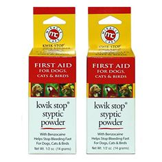 Miracle Care Kwik Stop Styptic Powder 05 Oz Pack of 2 >>> Check this awesome product by going to the link at the image. Dog Grooming Supplies, Cat Grooming, First Aid For Dogs, Nursing Supplies, Dog Itching, Cat Shedding, Dog Training Pads, Dog Dental Care, Dog Food Storage