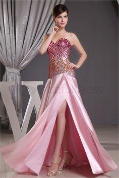 Sweetheart A-Line Sleeveless Silk-like Satin Formal Evening Dress