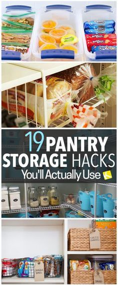 19 Pantry Organization Hacks That Will Change Your Life. Life hacks you need.