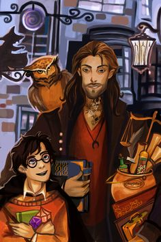 Imagine how HAPPY Harry would be if he had Sirius. EDIT: posting this one more time, with colors fixed. the last version was more terrible, sorry._.