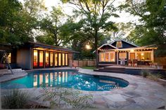 Rick and Cindy Black Remodel : Risinger Homes This Travis Heights project includes a 1940 bungalow renovation and the addition of a new poolside guest house. Selected for the 2012 AIA AUSTIN HOMES TOUR