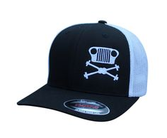 d17bcd570fbdd Grille   Axles CJ Meshback Flexfit Hat Jeep Gifts