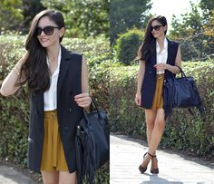 Get this look: http://lb.nu/look/7907614  More looks by Alba .: http://lb.nu/albaoc  Items in this look:  Just Fab Bag, Oasap Vest, Shein Shirt