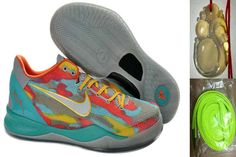 new product 1decf 56bc9 Free Shipping to Buy Nike Zoom Kobe 8 Blue Cool Grey Orange Yellow 555035  002 with