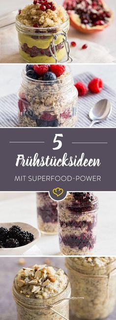 Mit unseren Superfood Frühstücks-Rezepten startest du garantiert mit Power in…