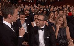 Pin for Later: Wait, We Have a Few More Oscars to Hand Out! Most Enthusiastic Joke Participant: Steve Carell