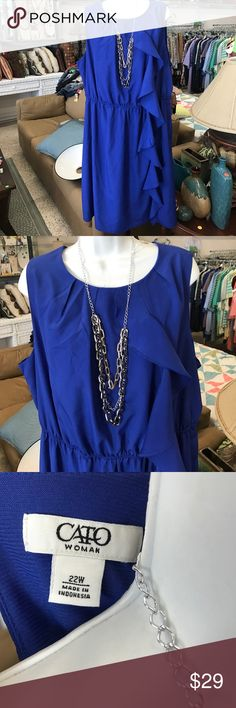 Cato dress size 22 cobalt blue  😍👗 Never worn in perfect condition ... all orders shipped day of or day after purchase... please check out my closets for more deals... buy 3 things get 15% off Cato Dresses Midi