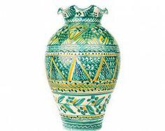 Vaso in ceramica. Decorative ceramic vase. Made in Italy. Designer Antonio Robustella