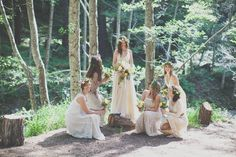 Forest nymphs bridal party