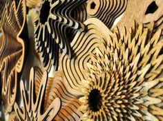 Murales decorativos - El Blog de Tresencaja.com  #diseño #madera #cnc #interiorismo #decoración