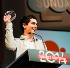 "Damien Chazelle accepts the Grand Jury Prize Dramatic for his film ""Whiplash"" at the 2014 Sundance Film Festival Awards Ceremony. Independent News Sources, Damien Chazelle, Grand Jury, Film Making, Sundance Film Festival, Film Director, Local News, Salt Lake City, Documentaries"